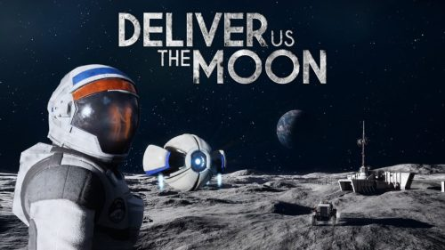 Deliver us to the moon logo