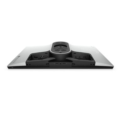 A bottom view of the ports of the AW2720HF gaming monitor without stand.