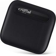 Crucial X6 Portable SSD On Corner w_shadow Image