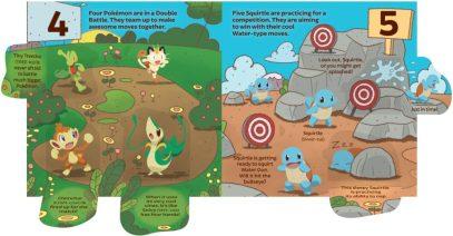 Pokémon Primers 123 Book Interior Spread 1 (flaps open)