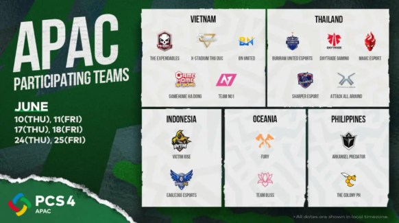 PCS4_APAC_Teams_and_Schedule