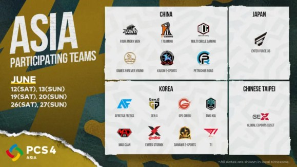 PCS4_Asia_Teams_and_Schedule