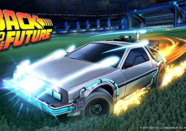 Back to the Future Returns to Rocket League