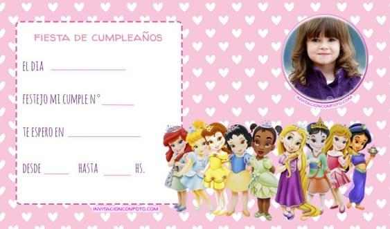 convite princesas bebes