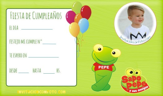 Invitaciones cumpleaños con foto