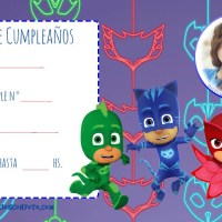 Invitación de Cumpleanos PJ Masks con Foto