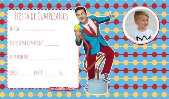 Topa Disney Invitaciones de cumpleanos - tarjetas de TOPA DIsney junior