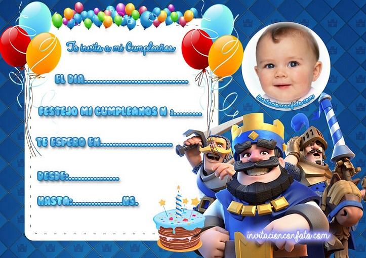 Invitacion de Cumpleaños de Clash Royale