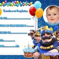 Invitación de Cumpleaños de Clash Royale con Foto
