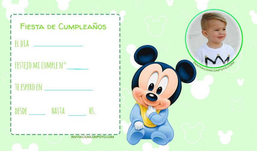 Mickey bebe cumpleanos tarjetas