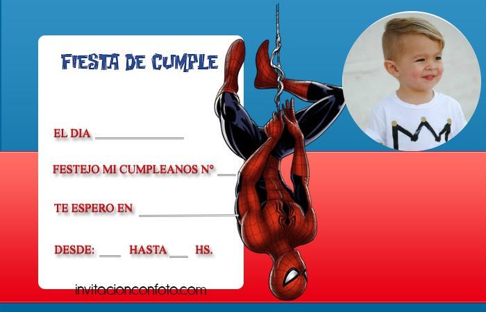 spiderman invitaciones de cumpleanos - hombre arana invitaciones tarjetas