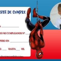 Invitaciones de Cumpleanos de Spiderman con Foto