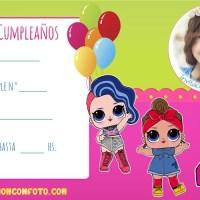 Invitaciones de Cumpleanos LOL Suprise con Foto