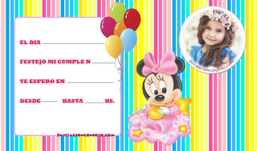 Invitaciones con foto Invitaciones de Cumpleaños Infantiles con Foto