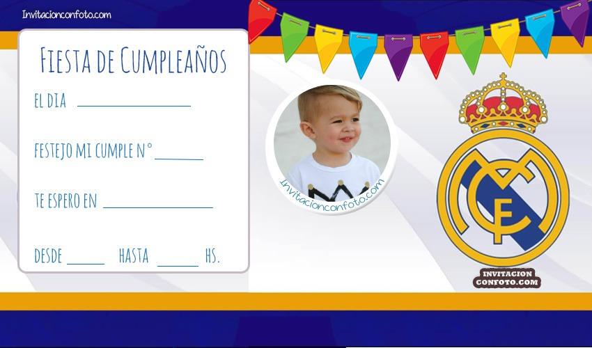 Real Madrid Invitacion Cumple Www Imagenesmy Com
