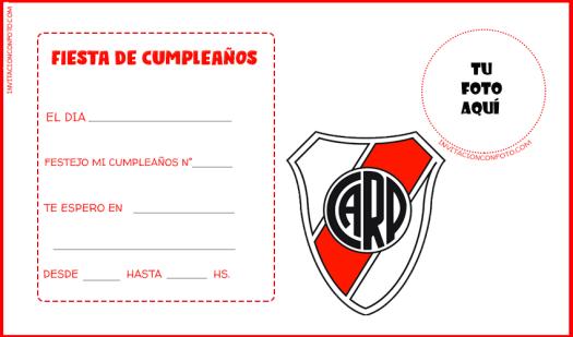 River Plate Invitaciones Fiesta