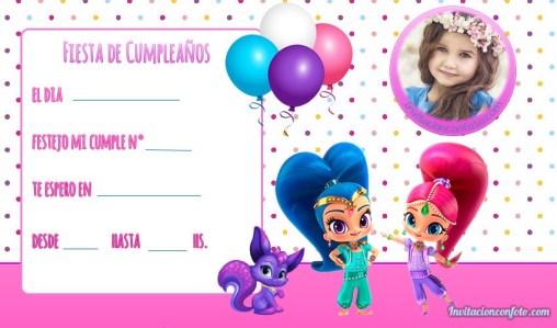 Invitaciones infantiles con Foto editar gratis