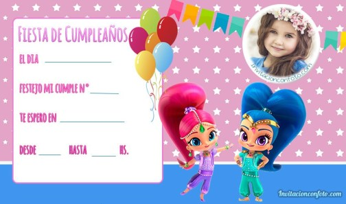 Tarjetas Shimmer and Shine