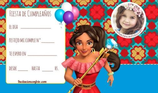 Invitaciones princesa elena de avalor cumpleanos