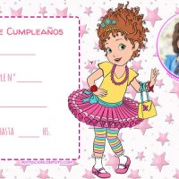 Invitaciones de Cumpleanos Fancy Nancy Clancy con Foto
