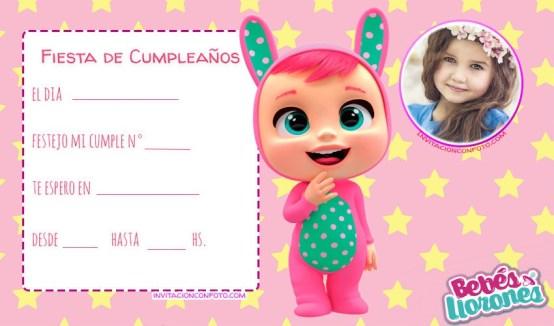 Tarjetitas de Cumpleanos Cry Babies Bebes Llorones