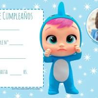 Invitaciones de Cumpleanos Bebes Llorones con Foto