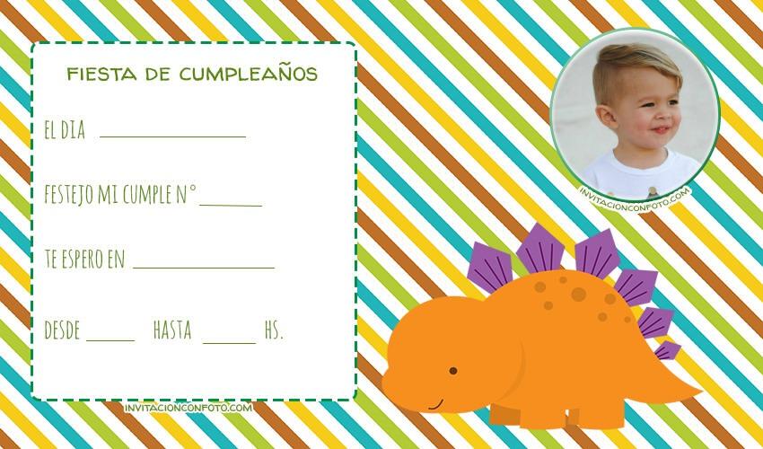 Tarjetas de Dinosaurios con foto