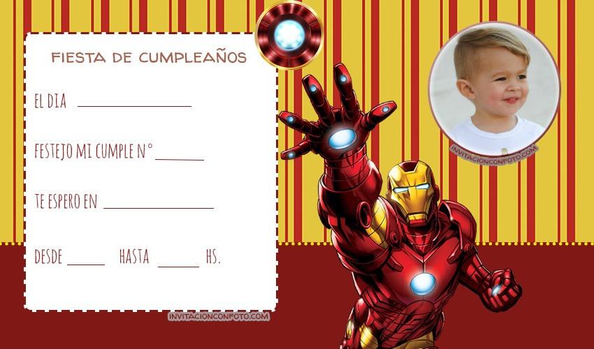 Tarjetas de Cumpleanos de Iron Man