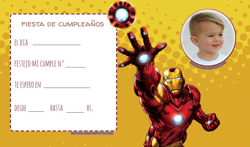 Iron Man tarjetas de Cumpleanos