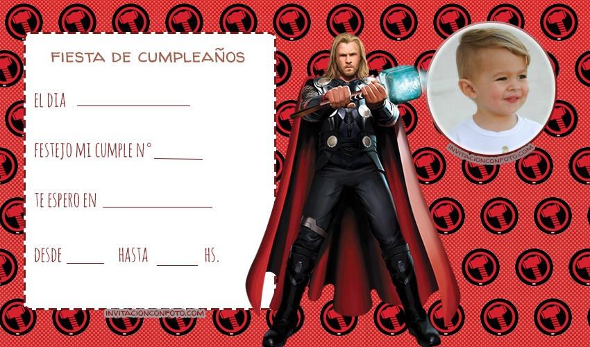 Convite Thor con Foto