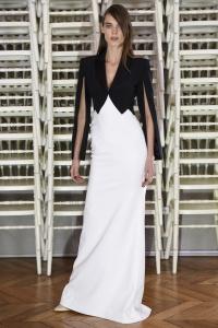 Alexis Mabille vestido blanco y negro ss16 París