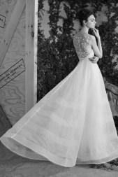 Carolina Herrera Novias Primavera 2017 modelo Austyn B&N