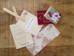 Invitación boda pasaporte