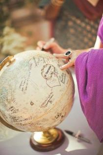 Libro de firma globo terraquio