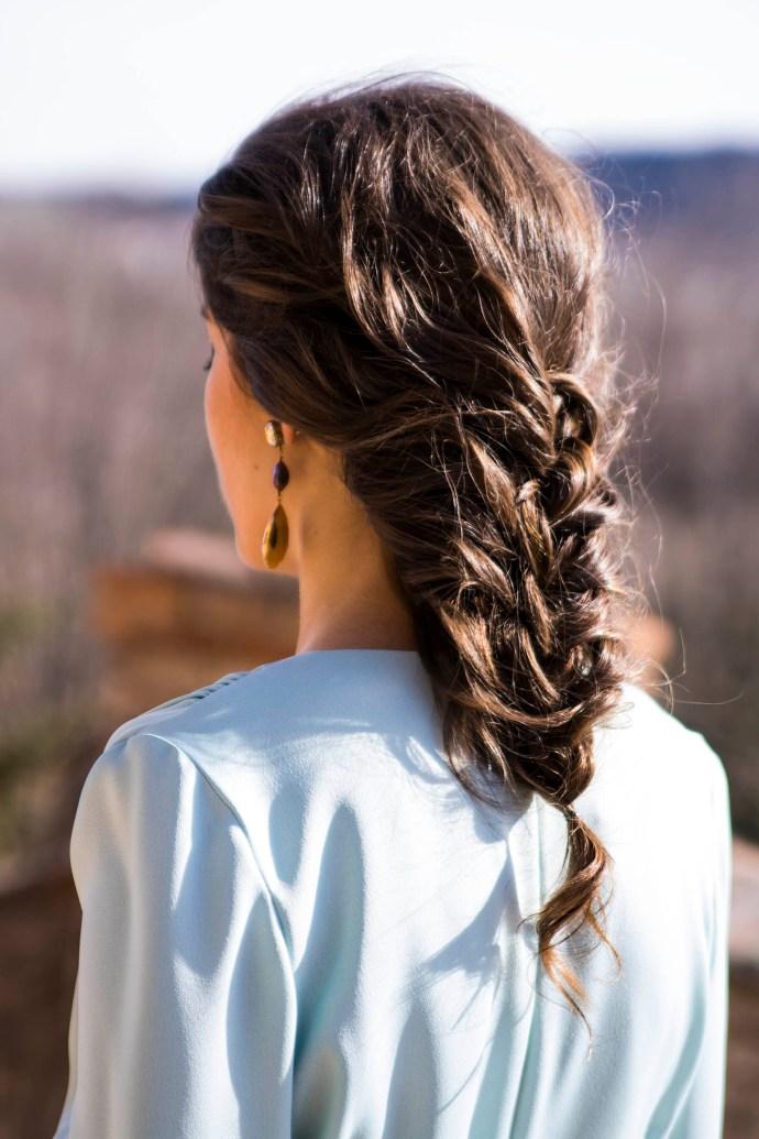 Peinado trenza invitada boda