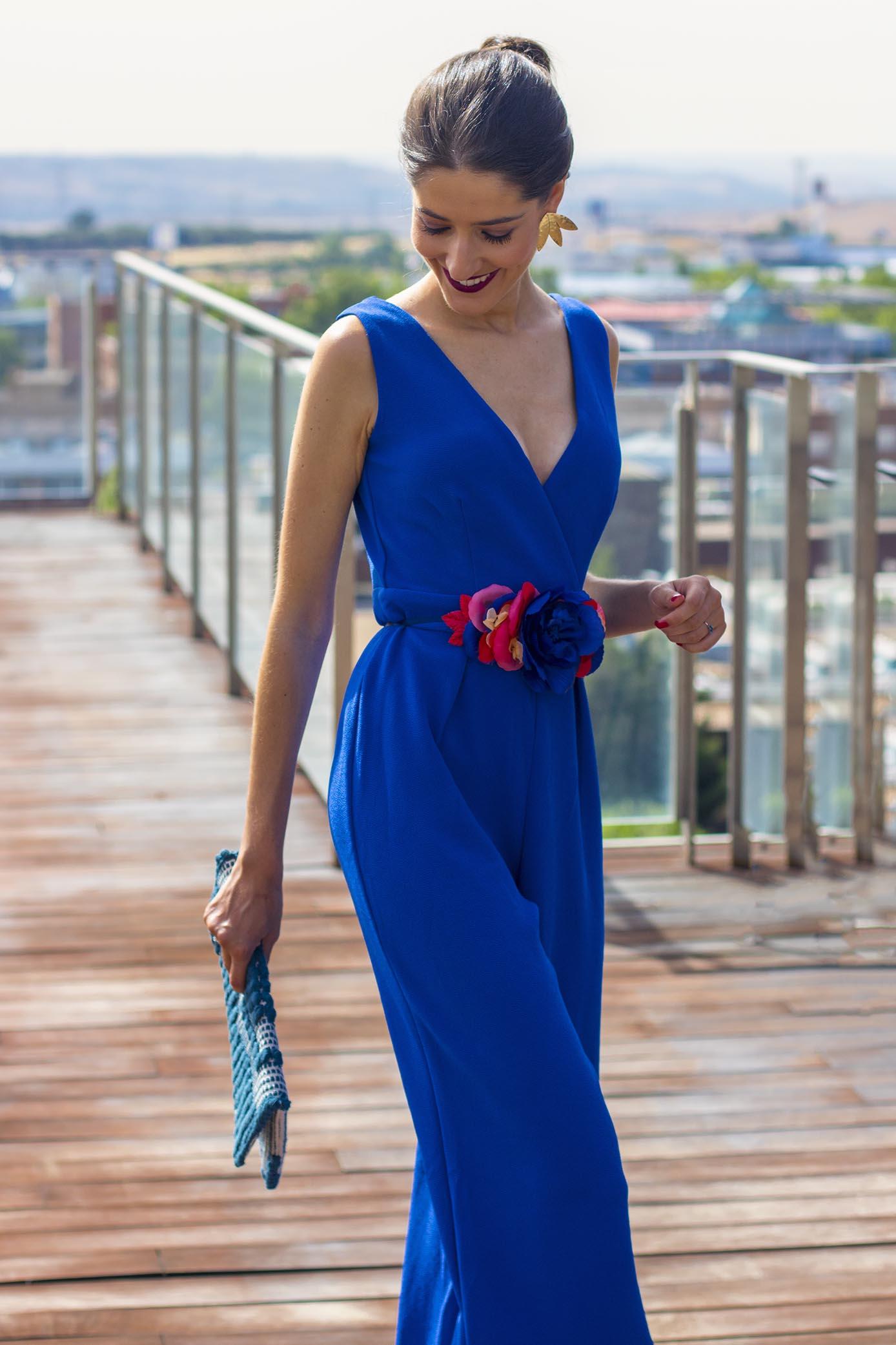 87339454a Invitada boda con mono azul con espalda de Wild Pony 3 – Invitada ...