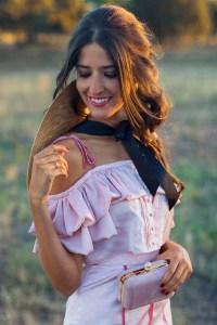 pamela tocado vestido largo