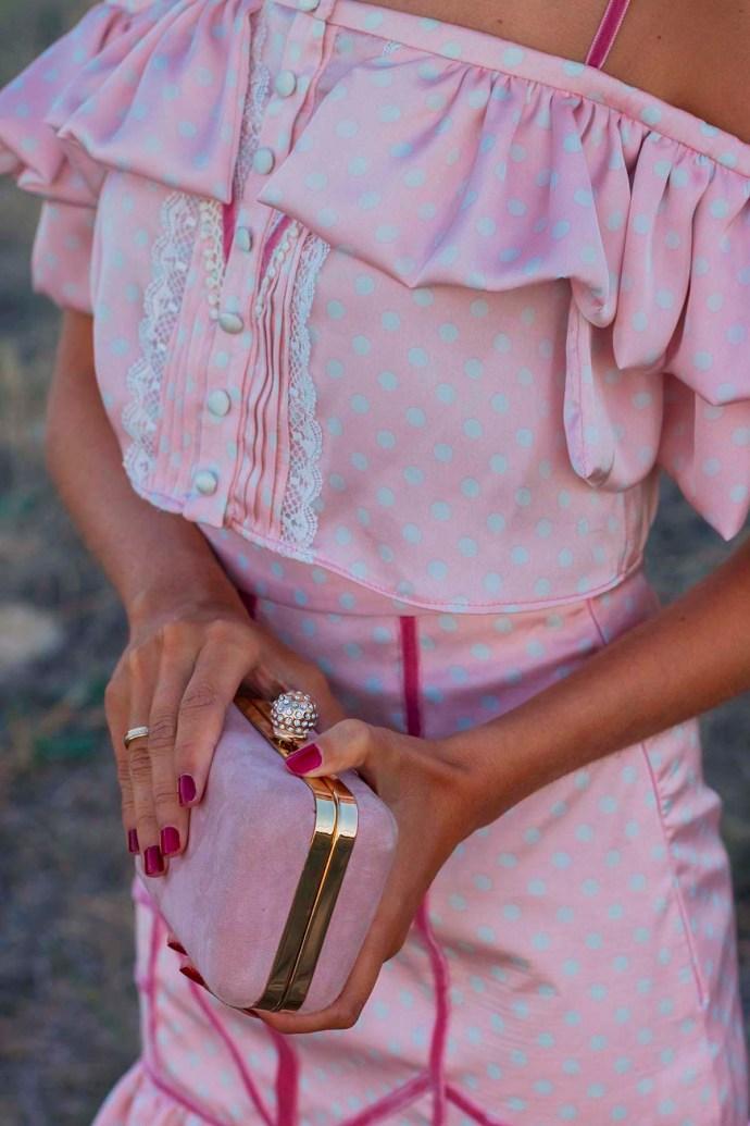 IBolso fiesta invitada boda rosa Salo Madrid