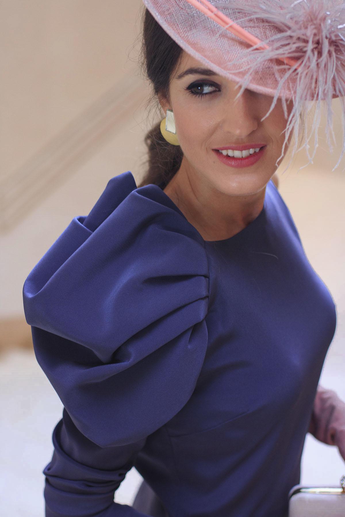 Morado Boda Con Byhandel De Vestido Invitada Look Y Mañana R4AL35j