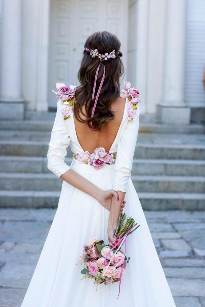 Peinado pelo suelto novia