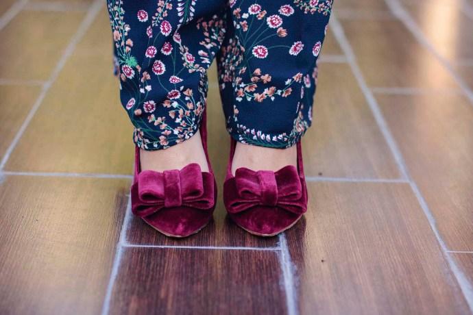 Zapatos Salo Madrid de tacón ancho granante