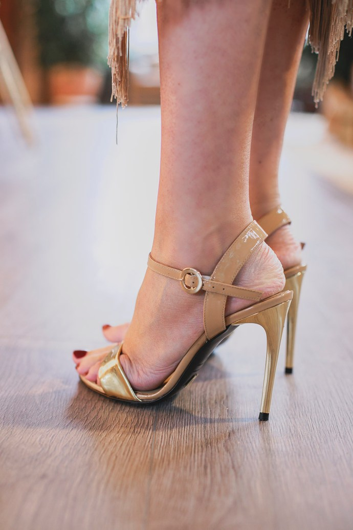 sandalias nude dorada invitada boda