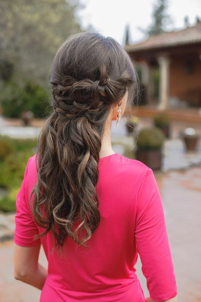 Semirecogido peinado invitada novia boda
