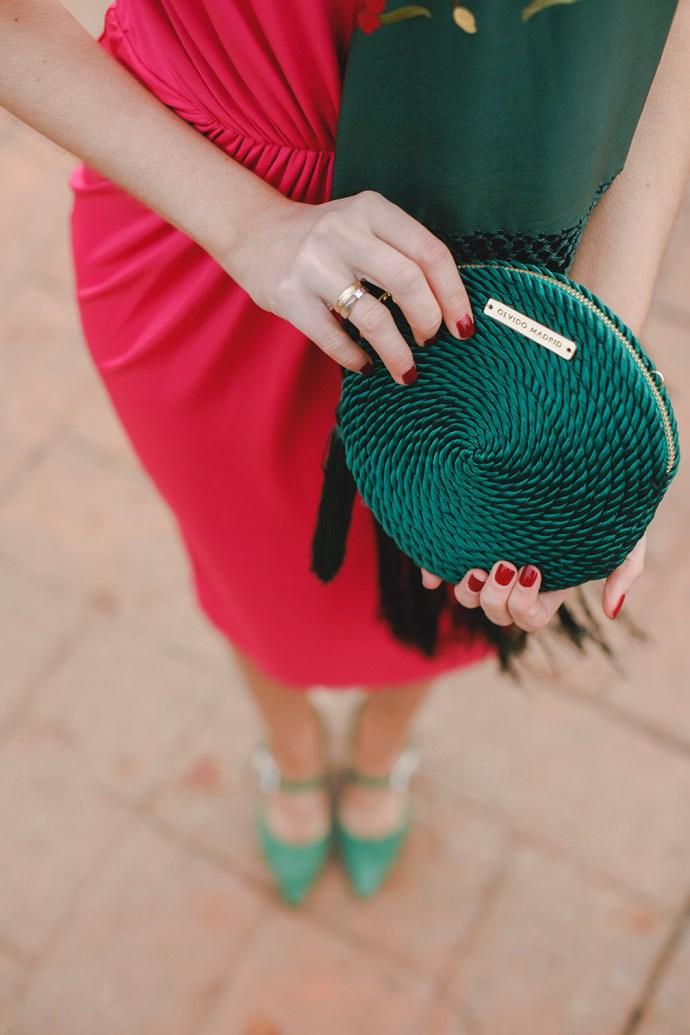 bolso fiesta verde invitada boda