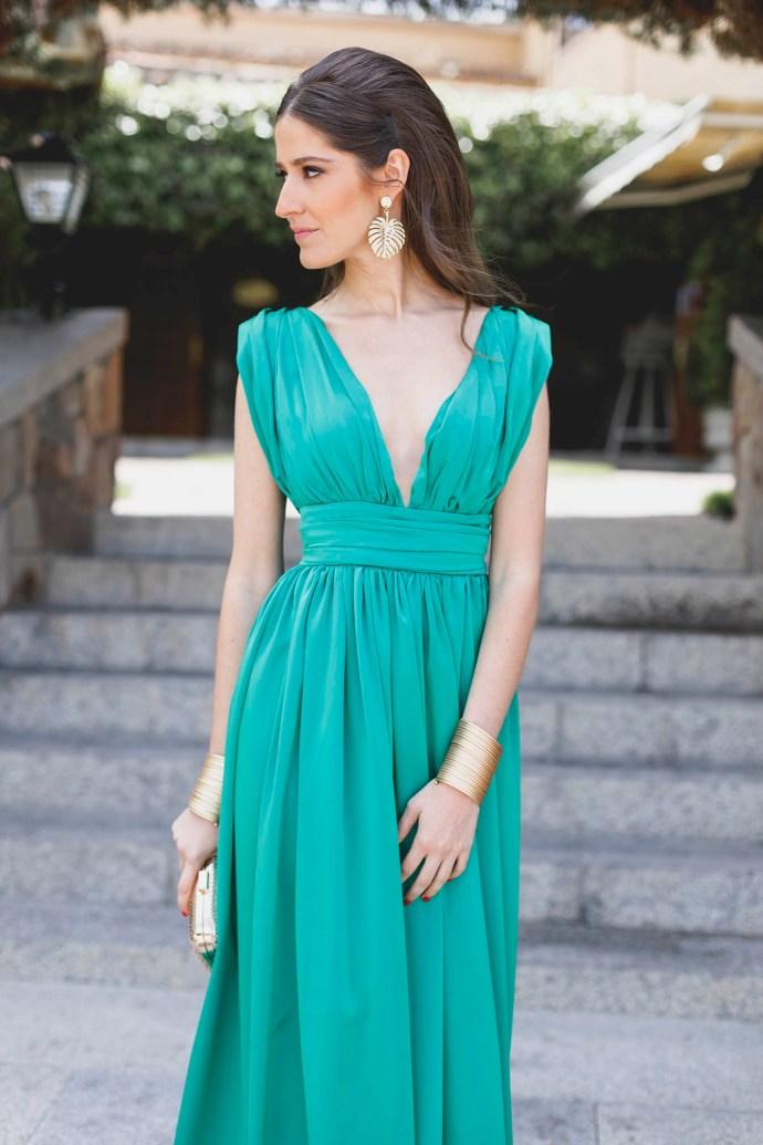 Look Invitada Noche Green Is The New Black Invitada Perfecta