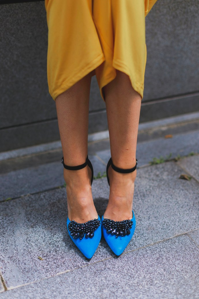 Sandalias fiesta azul klein
