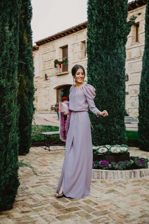 Vestido largo invitada boda noche