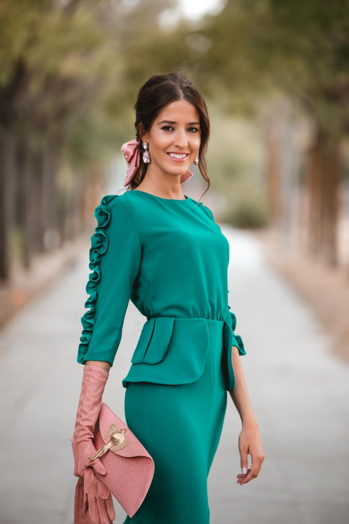 look invitada perfecta boda otoño
