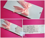 Invitatie plic baby pink