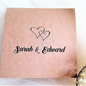 Rustic Kraft Pocketfold Wedding Invites